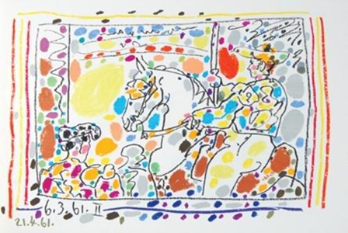 7D: Sabartés.Picasso:Toreros,4 orig.liths,1961