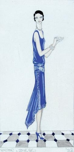 489E: Stiebel (Victor) Two early dress designs