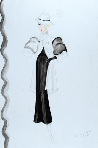 491E: Stiebel (Victor) Four pencil and watercolour desi