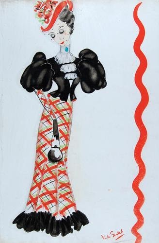 503E: Stiebel (Victor) Pencil and watercolour design