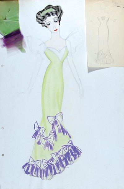 504E: Stiebel (Victor) Pencil and watercolour design