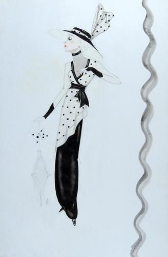 505E: Stiebel (Victor) Pencil and watercolour design