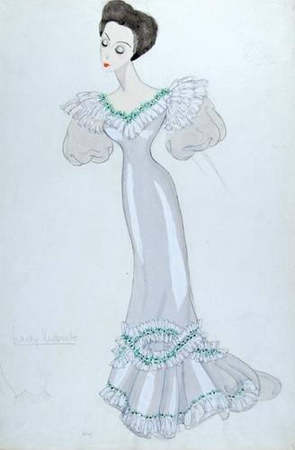 510E: Stiebel (Victor)  Pencil and watercolour design