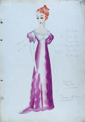 513E: Stiebel (Victor) Two watercolour dress designs