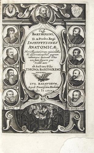 1B: Bartholinus.Institutiones anatomicae,1645