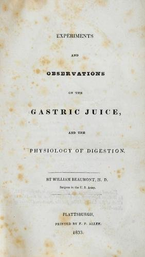 2B: Beaumont.Experiments/Obs..Gastric Juice