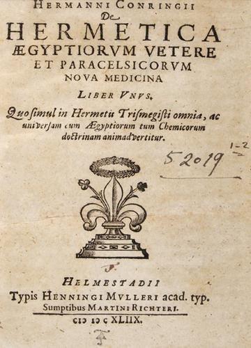 11B: Conringius.De hermetica aegyptiorum,1648