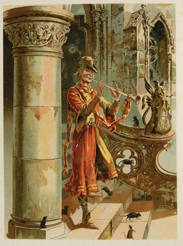 19B: Chromolithography.-The Pied Piper of Hamelin