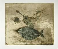 230A: Johnny Friedlaender (1912-1992) poisson et oiseau