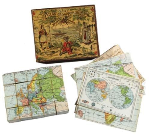 32B: Puzzles.- Atlas Géographique
