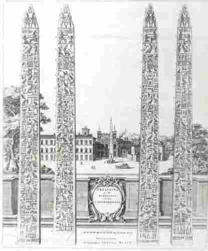 259D: Blaeu (Joan) 3 obelisks in Rome