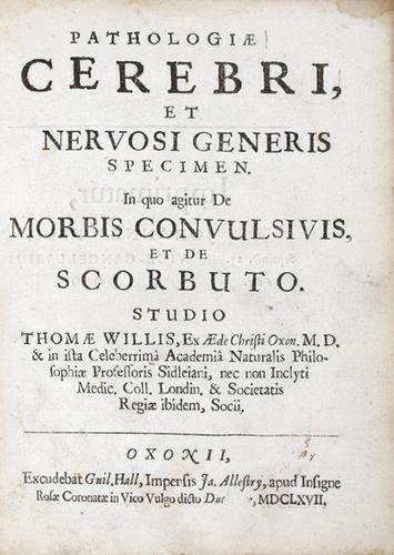 18A: Willis (Thomas) Pathologiæ cerebri