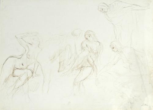 11B: Augustus John (1878-1961) female figure studies