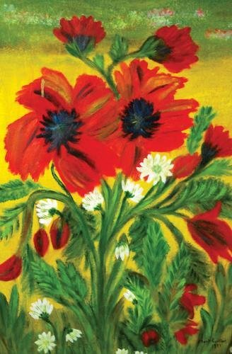 17B: Mark Gertler (1892-1939) still life with poppies,