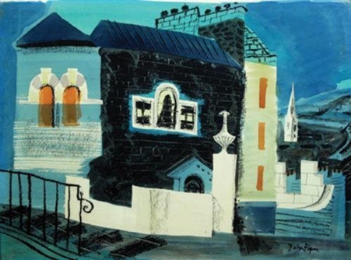 55B: John Piper (1903-1992) untitled (whitby), circa 19