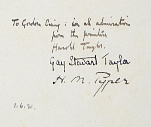 7C: Wade-Gery.Terpsichore,1/20,inscr.E.G.Craig,1922