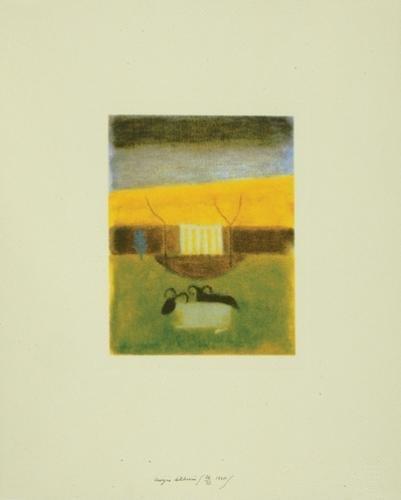 4A: Craigie Aitchison (b.1926) sheep at tullialan