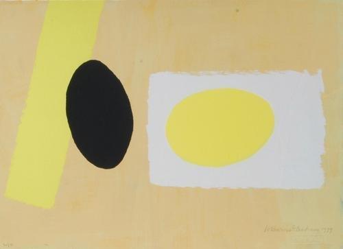 9A: Wilhelmina Barns-Graham (1912-2004) orange and lem