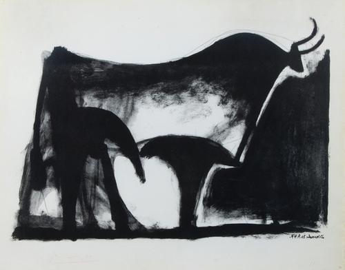 291A: Pablo Picasso, taureau noir (b.446; m.89)