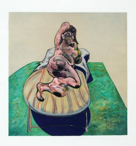 328B: Francis Bacon, henrietta moraes on a sofa