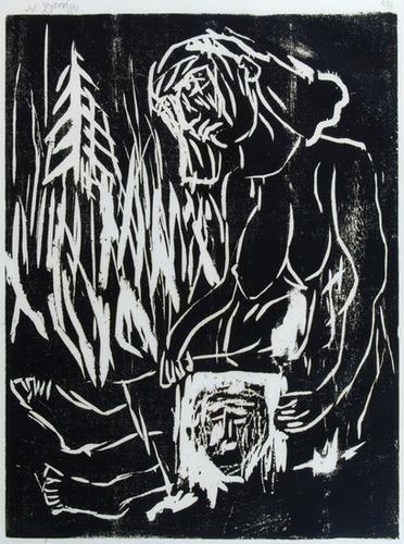 336B: Georg Baselitz (b.1938) veronika