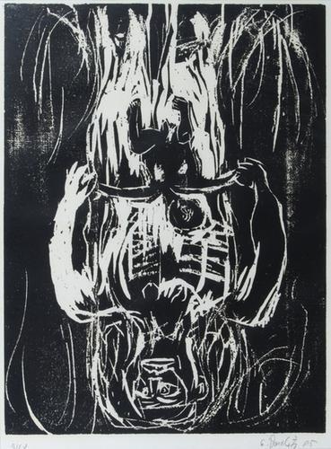 337B: Georg Baselitz, rote mutter, schwarzes kind