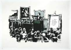 503B: Banksy (b.1975) morons (white)