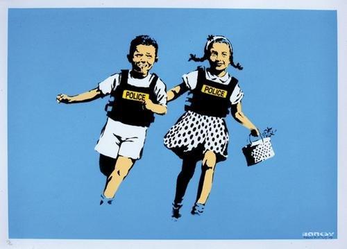 504B: Banksy (b.1975) jack and jill
