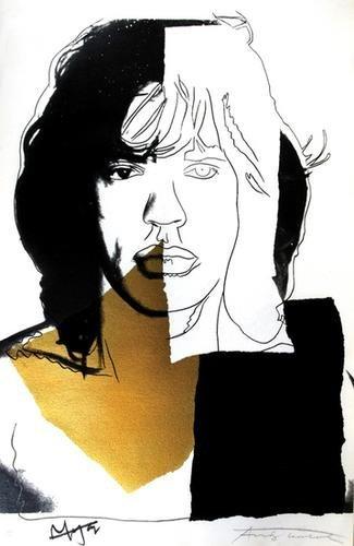 627B: Andy Warhol (1928-1987) mick jagger
