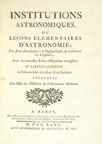7C: [Keill (James)] Institutions Astronomiques
