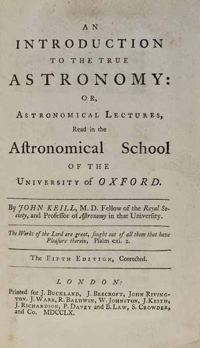 10C: Keill.Intro.True Astronomy...,1760