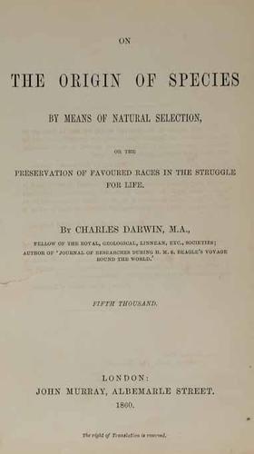 17C: Darwin (Charles) On the Origin of Species...