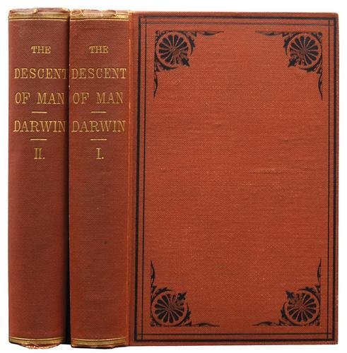 21C: Darwin.Descent of Man,2vol.1st US, 1871