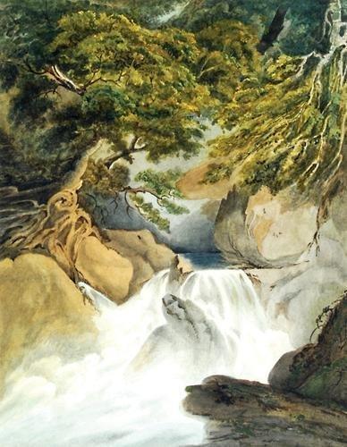 5D: Beverley (William Roxby, 1811-1889) Waterfall
