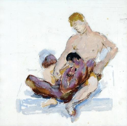11D: Duncan Grant (1885-1978) A homoerotic scene
