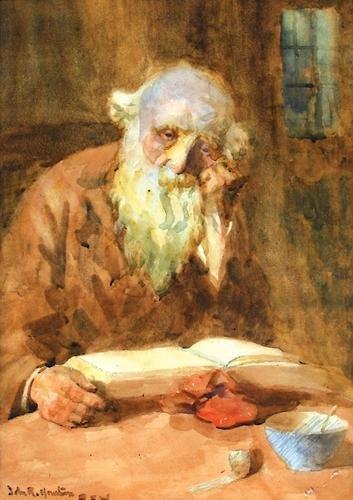 22D: Houston, elderly bearded gentleman reading