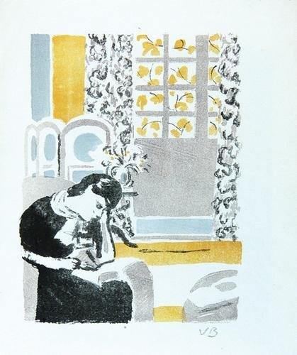 17A: Vanessa Bell (1879-1961) girl reading a book