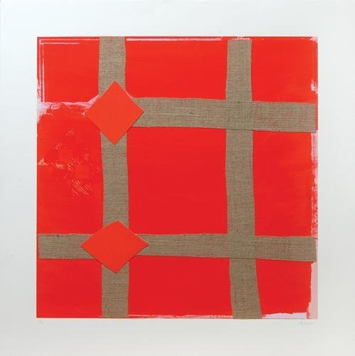 23A: Sandra Blow (1925-2006) red melange