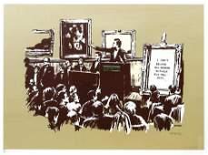 418A: Banksy (b.1975) morons (sepia)