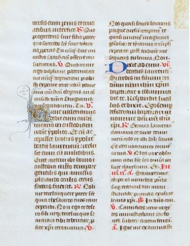 2A: Book Of Hours,  single leaf