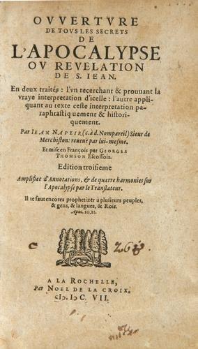 428B: Napier (John)Secrets de l'Apocalypse 1607