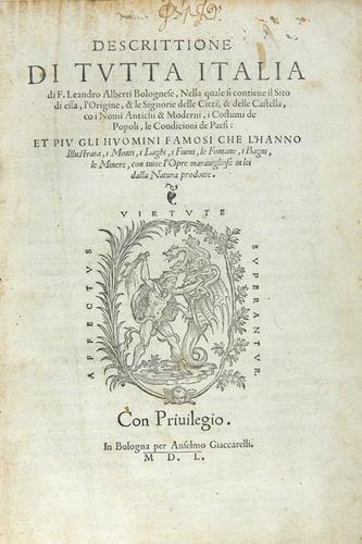 436B: Alberti Descrittione di Italia, 1st 1550