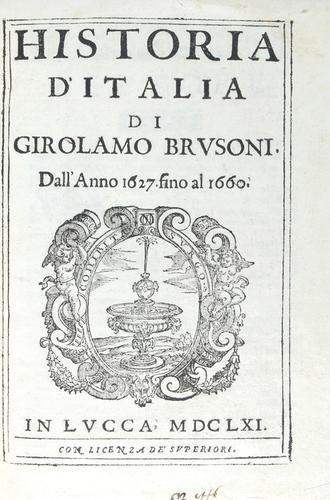 444B: Brusoni Historia d'Italia... 1661