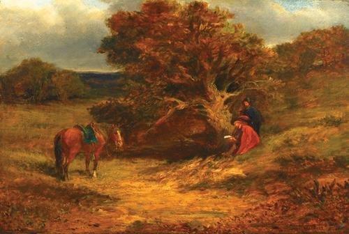 4C: Cattermole (C.) Cavaliers under a tree