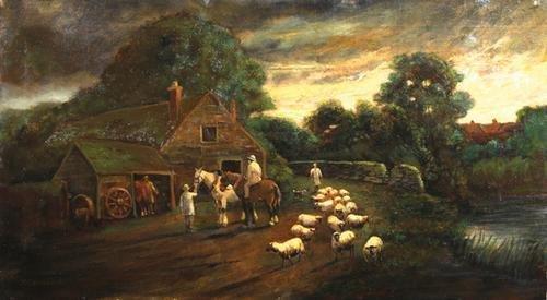 6C: Creswick (Thomas) Sheep by a blacksmith's
