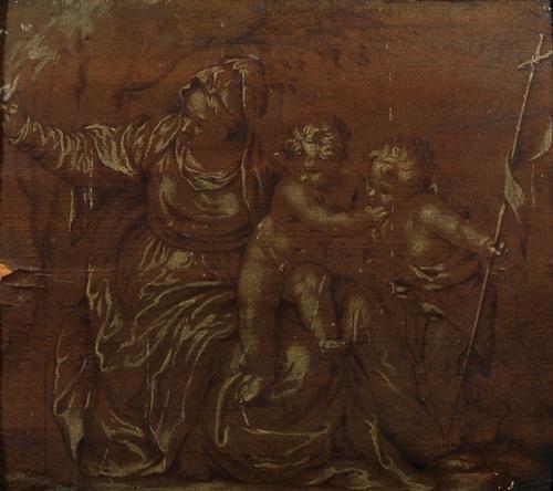 9C: Circle of Farinati. Madonna & Child & John Baptist