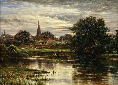 11C: Harris (William) Boys fishing on a punt