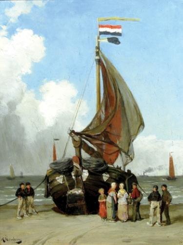 14C: Jernberg (August) Fishing boat on the shore