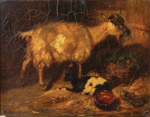 20C: Moreau (Nikolas, 1805-1834) Goat and kid