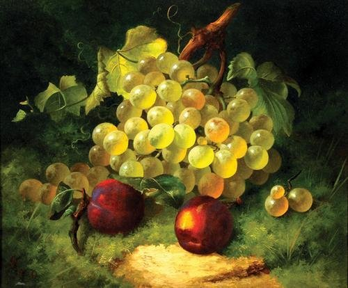 24C: Sanders (W.) Still life with grapes and plums